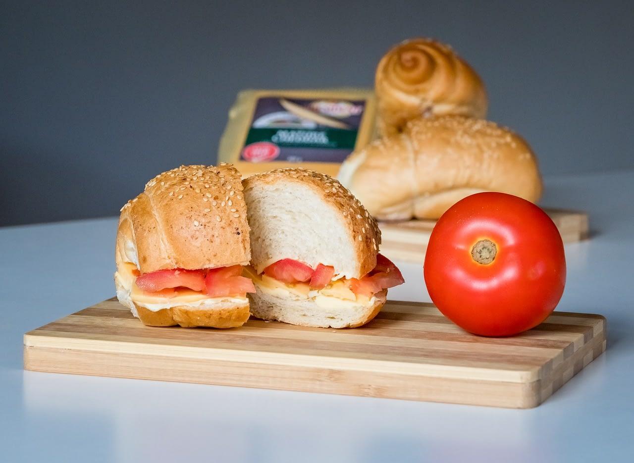sandwich, food, bread
